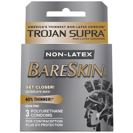 Trojan Supra Lubricated Premium Polyurethane Condoms