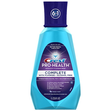 Crest Pro-Health Complete Alcohol Free Anticavity Fluoride Fresh Mint