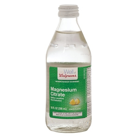 Walgreens Magnesium Citrate Saline Laxative Oral Solution Lemon