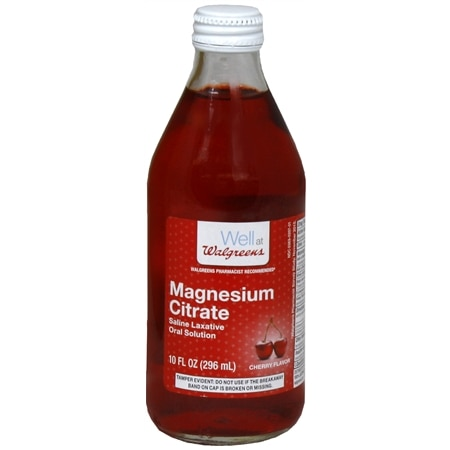 Walgreens Magnesium Citrate Saline Laxative Oral Solution Cherry