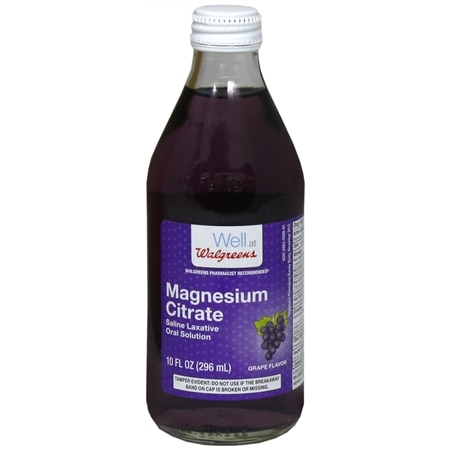 Walgreens Magnesium Citrate Saline Laxative Oral Solution Grape