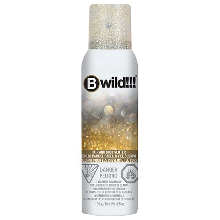 Jerome Russell B Wild Hair & Body Glitter Spray Gold and Silver
