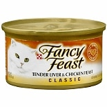 Fancy Feast Classic Gourmet Cat Food Liver & Chicken Tender Chicken & Liver Feast