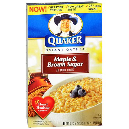 Quaker Instant Oatmeal Maple & Brown Sugar,10 pk