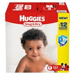 Huggies Snug & Dry Diapers, Economy Plus Pack Step 3, 16-28 lbs, 222 ea