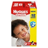 Huggies Snug & Dry Diapers, Economy Plus PackStep 5, Over 27 lbs, 172 ea