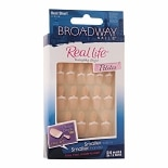 Broadway Nails Real Life Glue On Nails Real Short Petites Peach