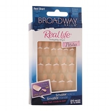 Real Life Glue On Nails Real Short PetitesReal Short, Peach