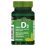 Finest Nutrition Vitamin D3 2000 IU Softgels