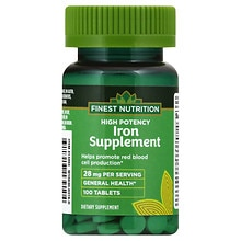 Finest Nutrition Iron Supplement 28mg, Tablets