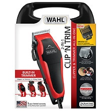 Wahl Clip 'N Trim Haircut Kit, Model  79900-1501 Red/Black
