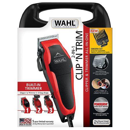 wahl clip 39 n trim haircut kit model 79900 1501 red black. Black Bedroom Furniture Sets. Home Design Ideas