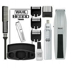 Wahl Cordless Beard & Mustache Trimmer Combo Silver