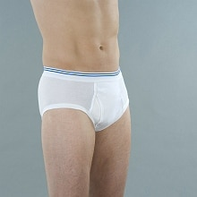 Wearever Reusable Mens Classic Incontinence Briefs White