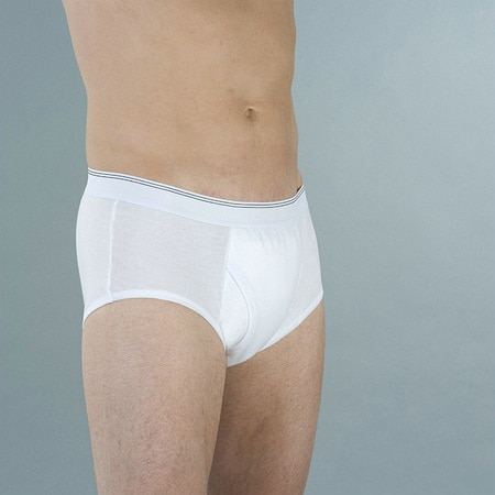 Wearever Reusable Mens Incontinence Super Briefs White