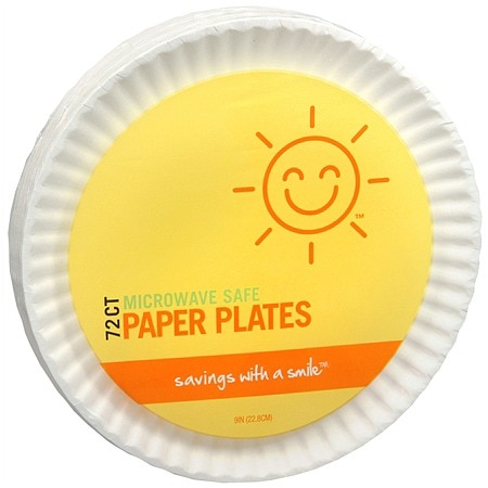 Sunny Smile Paper Plates, 9 inch