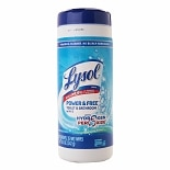 Lysol Power & Free Toilet & Bathroom Wipes Cool Spring Breeze