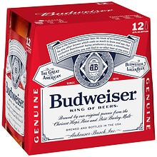 Budweiser Beer 12 oz Bottles 12 Pack