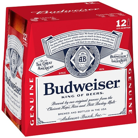 Budweiser Beer 12 oz. Bottles