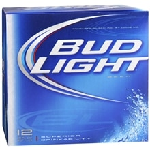 Bud Light Beer 12 oz Bottles 12 Pack