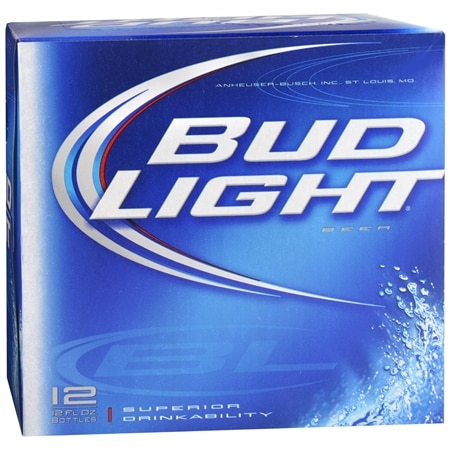 Budweiser Light Beer 12 oz. Bottles