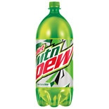 Diet Mountain Dew Soda 2 Liter Bottle