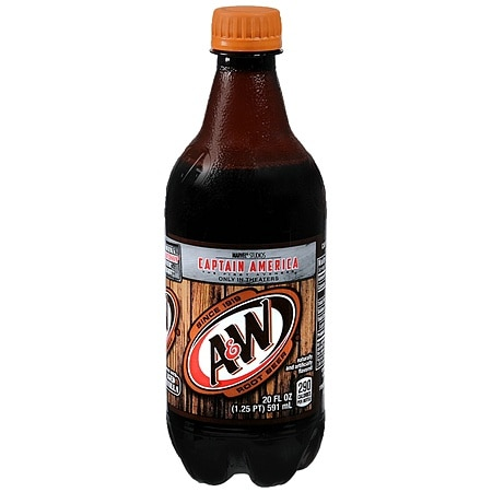 A&W Soda Root Beer,20 oz. Bottle
