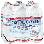 Crystal Geyser Natural Alpine Spring Water 16.9 oz Bottles 6 Pack