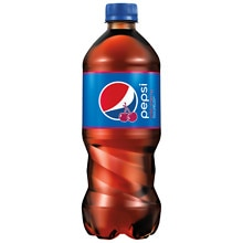 Pepsi Soda 20 oz Bottle Wild Cherry