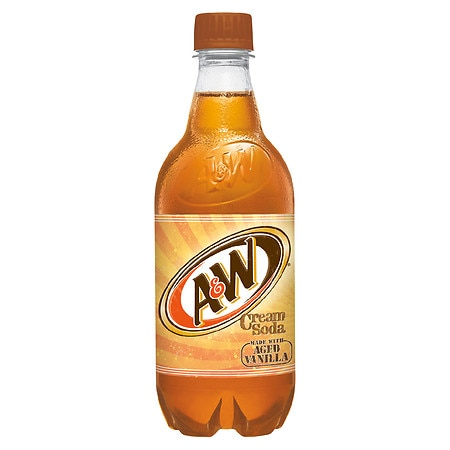A&W Soda 20 oz Bottle Cream