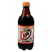 Diet A&W Root Beer Soda 20 oz Bottle