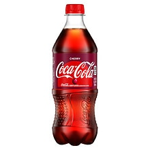 Coca-Cola Soda 20 oz Bottle Wild Cherry