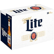 Miller Beer 12 oz Bottles 18 Pack