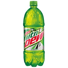 Diet Mountain Dew Soda 1 Liter Bottle 1 Liter Bottle