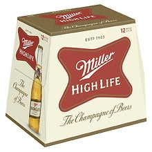Miller High Life Beer 12 oz Bottles