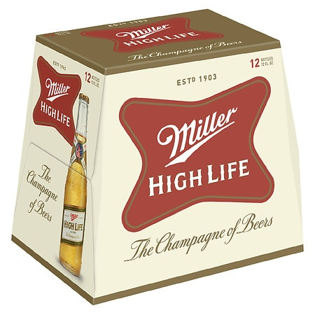 Miller High Life Beer 12 oz. Bottles