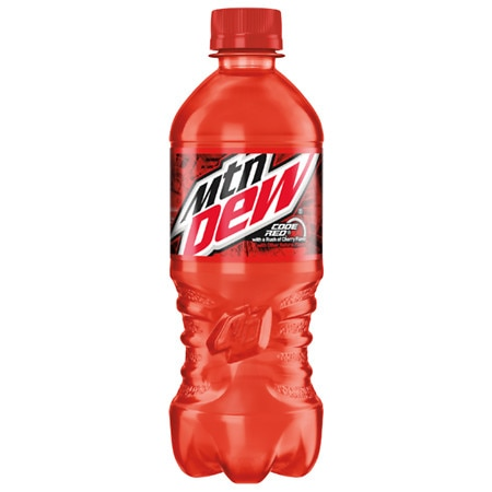 Mountain Dew Code Red Soda 20 oz. Bottle