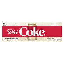 Diet Coke Caffeine Free Soda 12 Pack 12 oz Cans