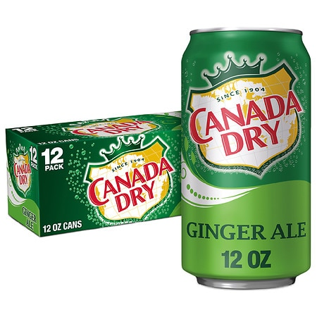 Canada Dry Soda Ginger Ale,12 oz. Cans