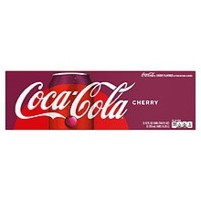 Coca-Cola Soda Cherry,12 oz Cans