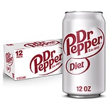Diet Dr. Pepper Soda 12 Pack Cans 12 Pack 12 oz Cans
