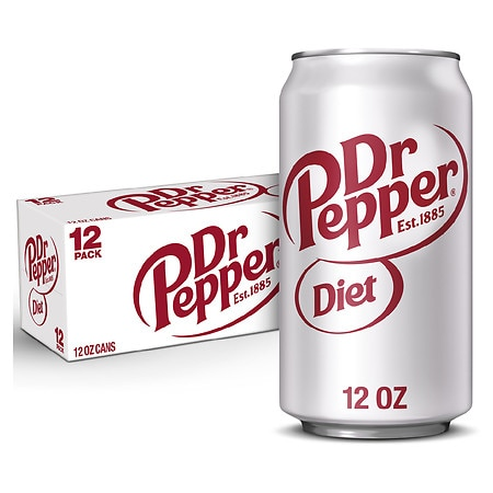 Diet Dr. Pepper Soda 12 oz. Cans