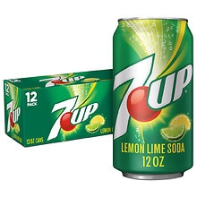 7-Up Soda 12 Pack 12 oz Cans Lemon-Lime
