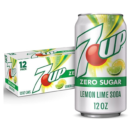 Diet 7-Up Soda Lemon Lime, 12 oz Cans, 12 pk