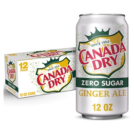 Canada Dry Diet Soda Ginger Ale,12 oz. Cans