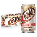 Diet A&W Root Beer Soda 12 Pack  12 oz Cans