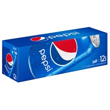 Pepsi Soda 12 Pack 12 oz Cans
