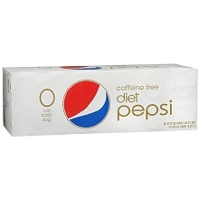 Diet Pepsi Caffeine Free Soda 12 Pack 12 oz Cans