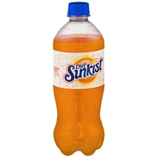 Diet Sunkist Soda 20 oz Bottle Orange