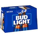 Bud Light Beer 12 oz Bottles 18 Pack